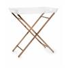 Classy Clinton Acrylic Tray Table, Translucent & Copper