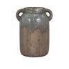 Classic Bardot Large Blue Stone Ceramic Vase, Rustic grey