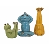 Cool Set of 3 Yoga Frog Statuaries