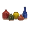 Cameron Mini Vase, Red, Orange, Yellow, Set Of 5
