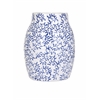 Alluring Beaufort Large Vase, White & Navy Blue