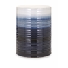 Trendy Quinlyn Blue and White Garden Stool, White & Blue