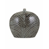 Exquisite Inka Short Ceramic Vase, Grey