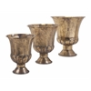 Vintage Carlisle Metal Pots, Rustic Gold, Set Of 3