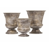 Superb Maison Mini Pots, Rustic Bronze, Set Of 3