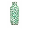 Natural Emerald Tall Safari Vase, White & Green