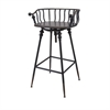 Crestly Metal Bar Chair, Rustic Black