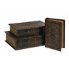 Timeless, Dark gray, Set Of 3 Old World Book Box Collection