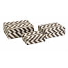 Zig Zag Bone Inlay Boxes - Set of 3