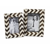 Zig Zag Bone Inlay Frames - Set of 2