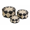 Lanta Bone Inlay Boxes - Set of 3