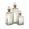 Classy, Clear, Set Of 3 Hampshire Etched Decanters