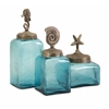 Simply Stunning, Blue, Set Of 3 Sea Life Canisters