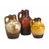 Unique Vino Rosa Terracotta Vases with Handle, Assorted, Set Of 3