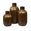 Enthralling Ortega Terracotta Vases, Antique Gold, Set Of 3