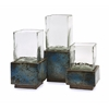 Captivating Cubo Terracotta Hurricanes, Shades of brown, Set Of 3