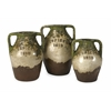 Appealing Guerrero Terracotta Jars, Multicolor, Set Of 3