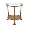 Marvelous Natalia Side Table, Antique Gold