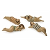 Wonderful Bathing Beauties in Natural Wood - Set of 4