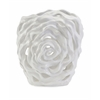 Charming Rebecca Cutwork Flower Vase, Washed In White