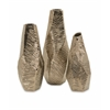 Wonderful Metallic Bronze Geometric Vases, Shade Of Bronze, Set Of 3