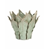 Watkins Sea Leaf Decorative Vase (Small), Dark Sea Green