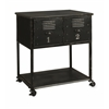 Amazing Alastor 2-Drawer Rolling Cart Table, Black