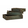 Perfect Garden, Green, brown, Set Of 3 Northfork Wood Trays