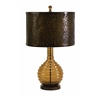 Chic Briallen Glass Table Lamp, Brown & Mustard