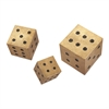 Beth Kushnick Hanging Wall Dice, Beige and black, Set Of 3