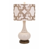 Enchanting Hulsey Table Lamp, Sober cream shades