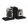 Timeless Classics Vintage Camera Bookends, Black, Silver