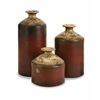 Charming Colonia Bottle Vases, Maroon, Set Of 3