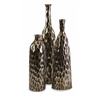 Antiqued Bevan Ceramic Vases - Set of 3