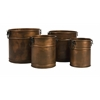 Tauba Round Copper Finish Planter - Set of 4