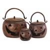Sweet and Delightful Set of 3 Lidded Pumpkins
