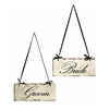 Bride and Groom Decorative Sign in Black and White, Black and White