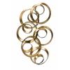 Enticing Seretha Gold Leaf Wall Decor, Metallic Gold