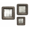 Antique Jezant Mirror Tray Wall Decor - Set of 3