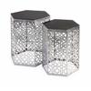 Radiant Nikki Chu Lancaster Silver Mirror Table - Set of 2
