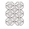 Prestin Wall Mirrors, Galvanized silver, Set Of 12