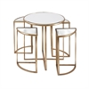 Limba Mirror Accent Tables, Golden, Set Of 5