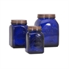Dazey Lidded Canisters, Navy Blue, Set Of 3
