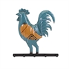 Randall the Rooster Hook - Reclaimed Metal, Multicolor
