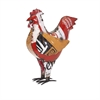 Chester the Chicken - Reclaimed Metal, Multicolor