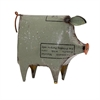 Precious the Pig - Reclaimed Metal, Olive green