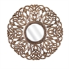 Warman Carved Wood Mirror, Antique Gold