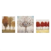 Miniature Tree Gallery Art, Multicolor, Set Of 3