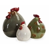 Mirthful and Beautiful Set of 3 Stylized Chickens