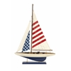 Carter American Flag Showpiece Sailboat, White Blue and Red